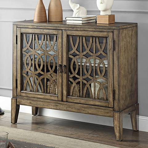 Pendleton Kire Burnished Parchment 2-Door Accent Cabinet