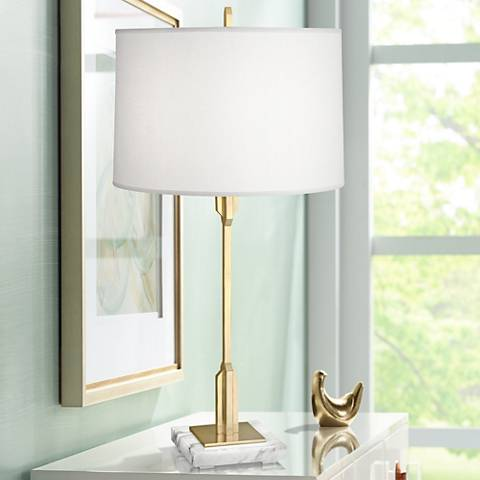 Robert Abbey Empire Modern Brass Table Lamp