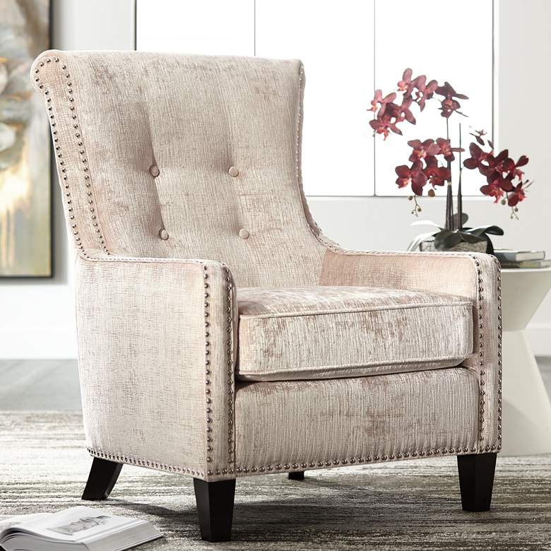 Chantelle Heather Ivory Accent Chair