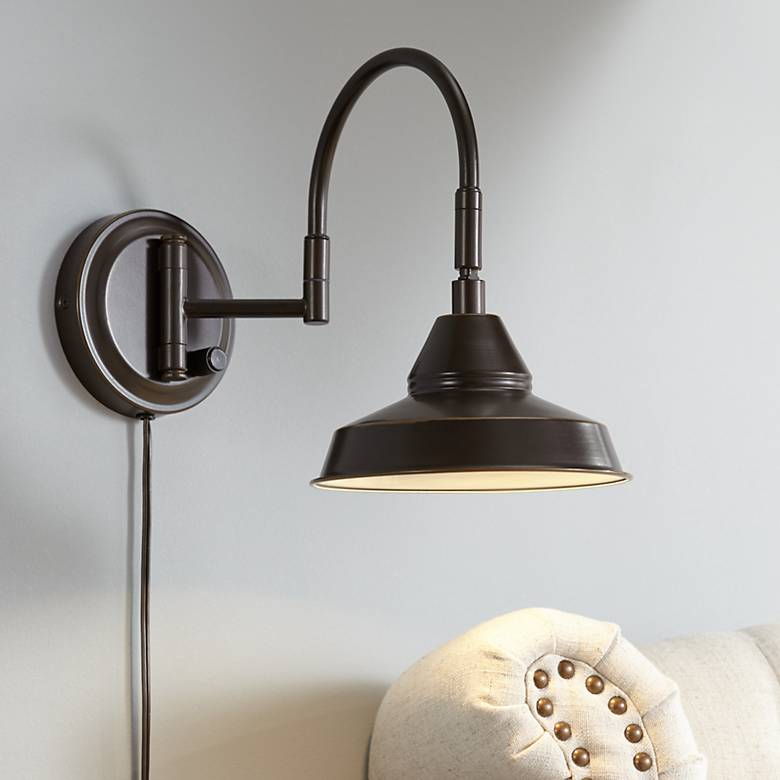 Chadwick Oil Rubbed Bronze Swing Arm LED Wall Lamp