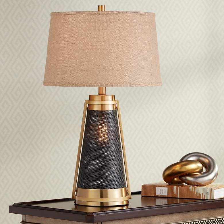Millard Brass LED Night Light Table Lamp