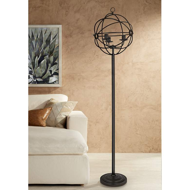 Crestview Collection Global Oil Bronze Metal Floor Lamp