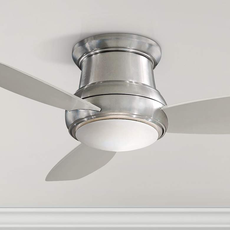 "44"" Concept II Brushed Steel Flushmount LED Ceiling Fan"