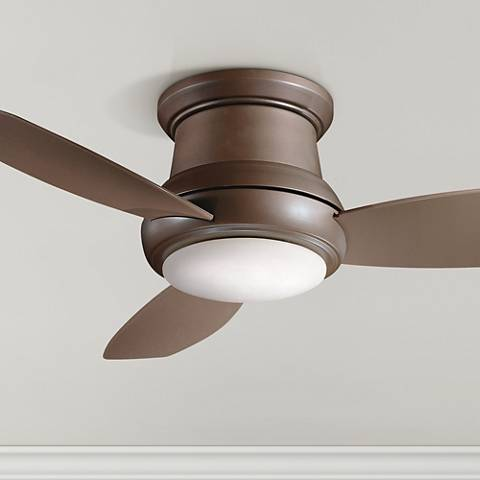 "44"" Concept II Bronze Flushmount LED Ceiling Fan"