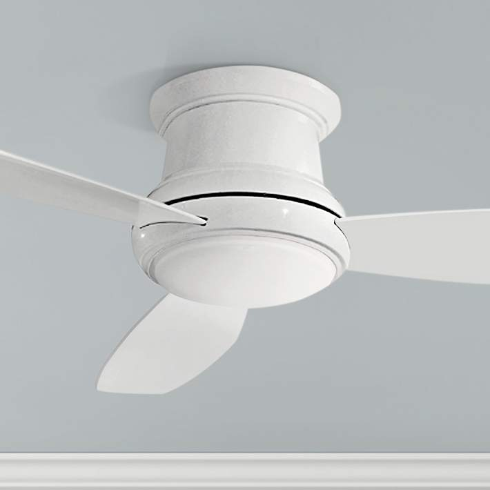 52 Concept Ii White Flushmount Led Ceiling Fan 19w21 Lamps Plus