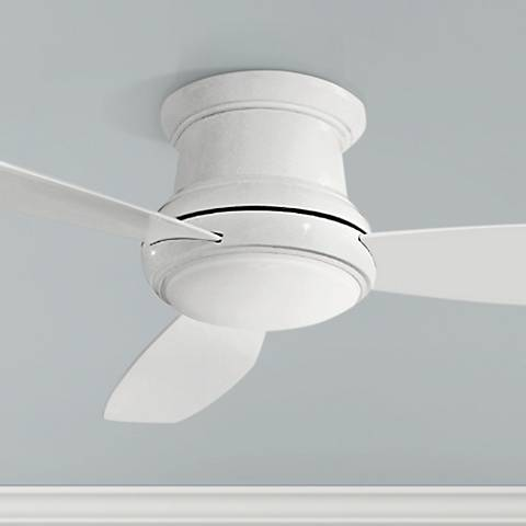"52"" Concept II White Flushmount LED Ceiling Fan"