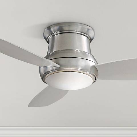 "52"" Concept II Brushed Nickel Flushmount LED Ceiling Fan"