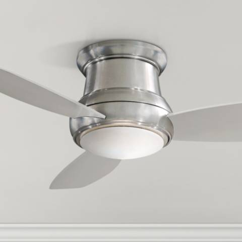 52 Quot Concept Ii Brushed Nickel Flushmount Led Ceiling Fan