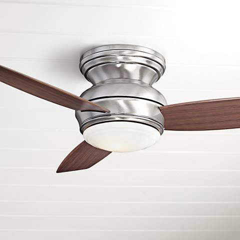 "44"" Traditional Concept Pewter Flushmount LED Ceiling Fan"