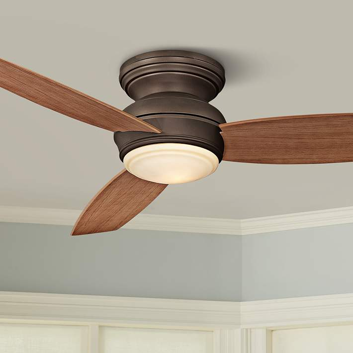 Bronze Flushmount Led Ceiling Fan