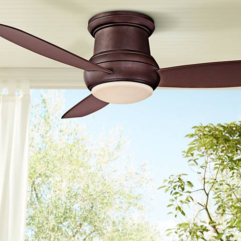 52 concept ii bronze wet rated flushmount led ceiling fan 19w69 52 concept ii bronze wet rated flushmount led ceiling fan aloadofball