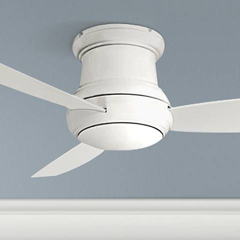 "52"" Concept II White Wet-Rated Flushmount LED Ceiling Fan"