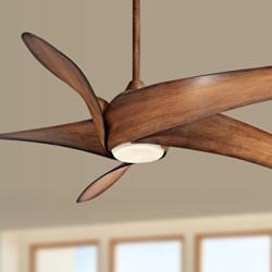"62"" Artemis XL5 Distressed Koa LED DC Ceiling Fan"