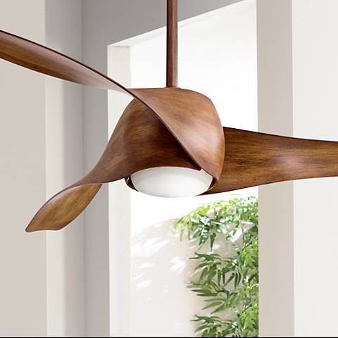 58 Quot Artemis Distressed Koa Led Ceiling Fan 19x71