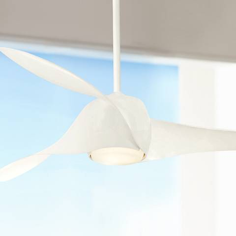 58 Quot Artemis High Gloss White Led Ceiling Fan 19x76
