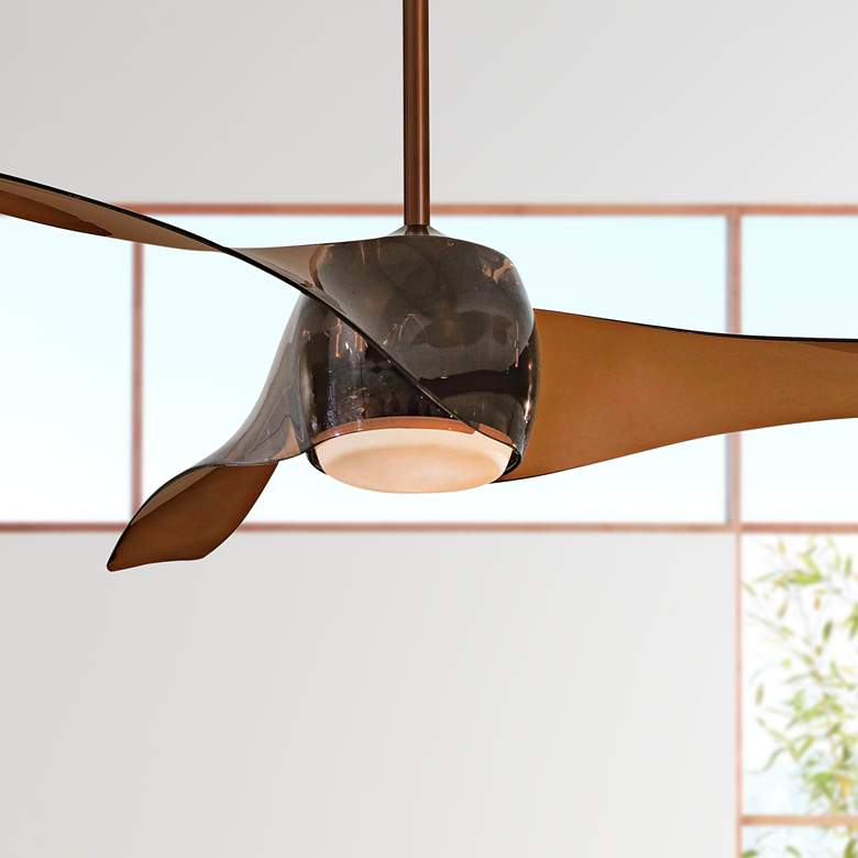 "58"" Artemis Copper Bronze LED Ceiling Fan"