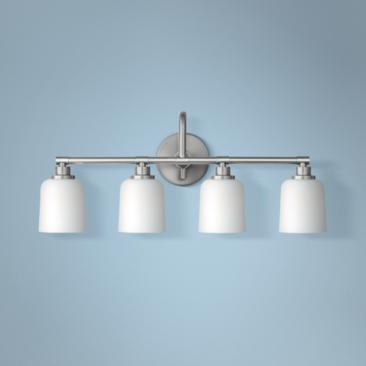 "Feiss Reiser 28 3/4"" Wide 4-Light Satin Nickel Bath Light"