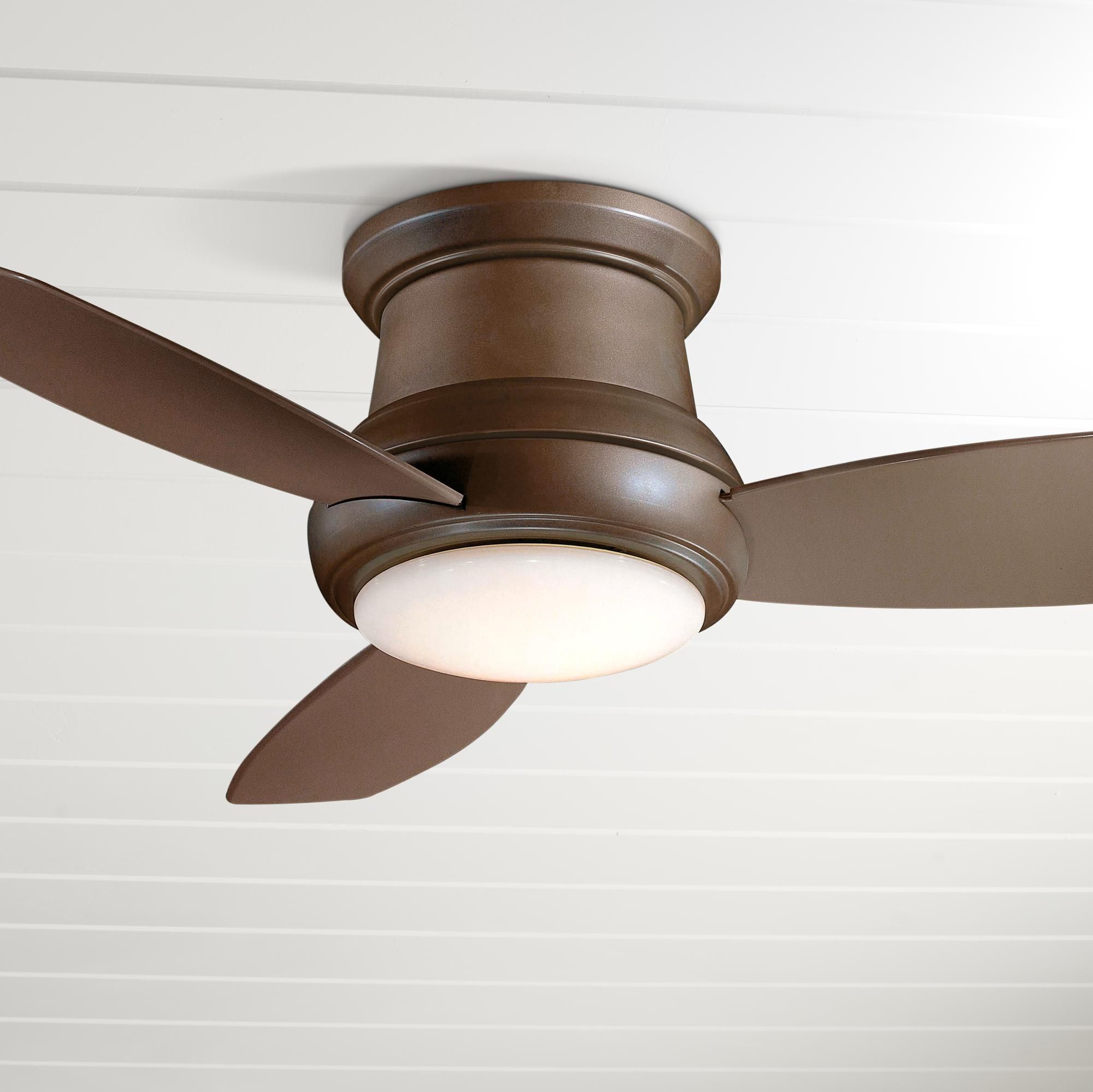 52 Concept Ii Bronze Flushmount Led Ceiling Fan