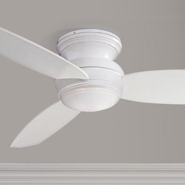 "52"" Traditional Concept White Flushmount LED Ceiling Fan"
