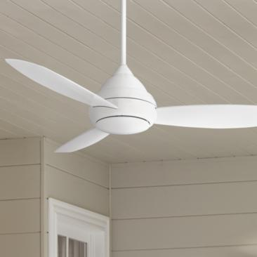 "52"" Concept I White Wet-Rated LED Ceiling Fan"