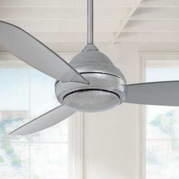"44"" Concept I Polished Nickel LED Ceiling Fan"