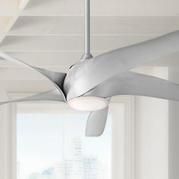 "62"" Artemis XL5 Silver LED DC Ceiling Fan"
