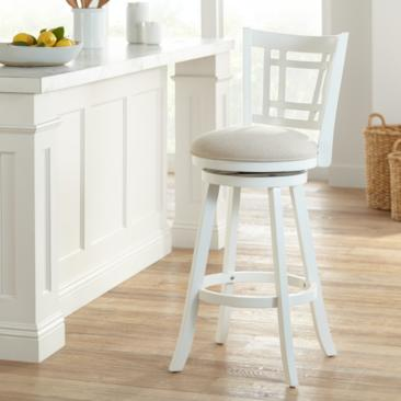 "Hillsdale Fairfox 30 1/2"" White Ecru Swivel Bar Stool"