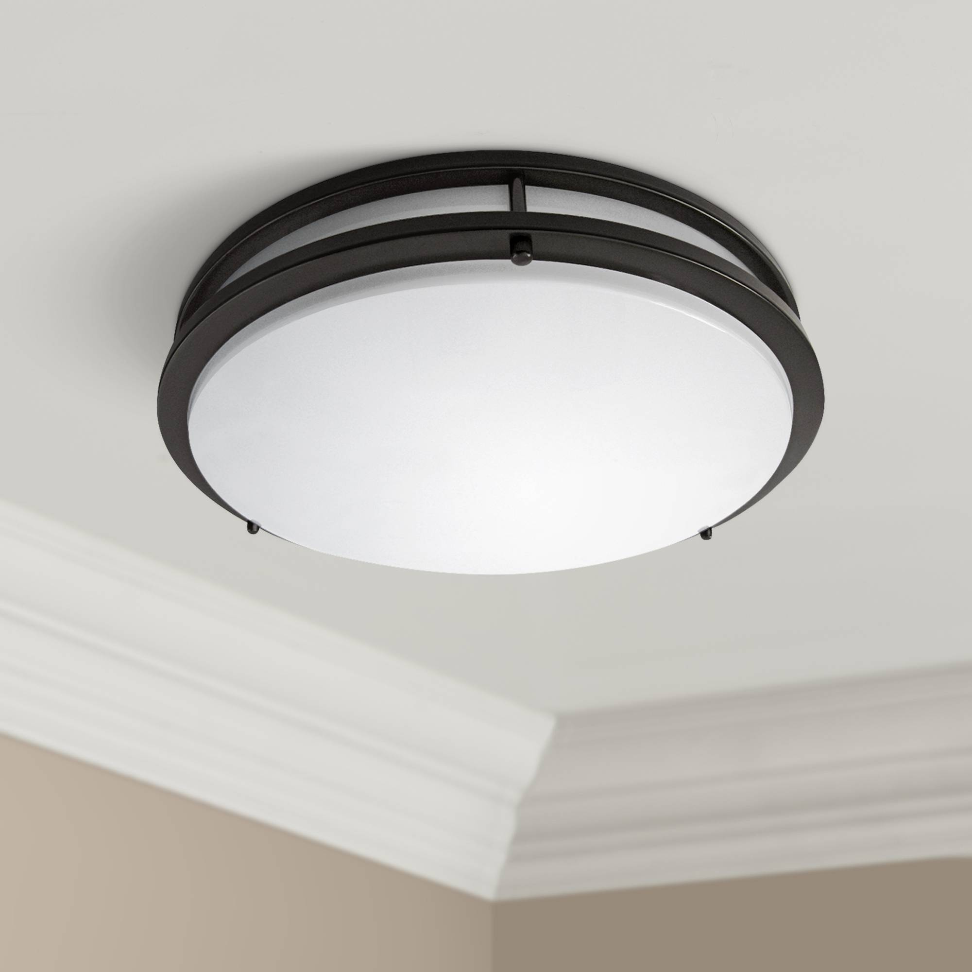 Zaire bronze 10 wide flushmount led ceiling light