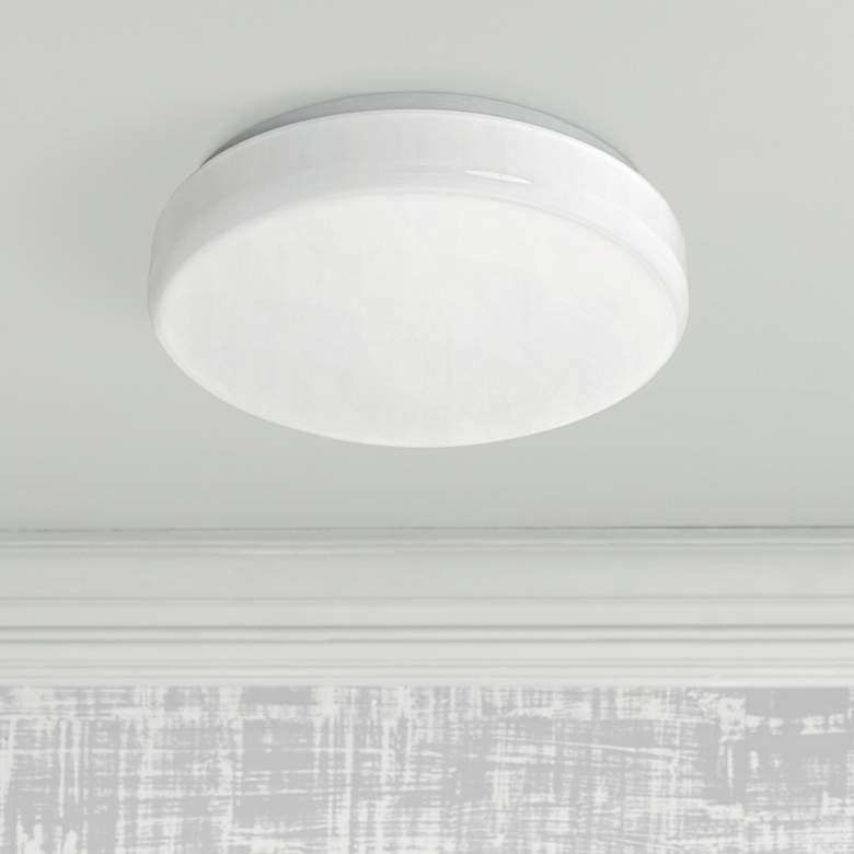 "Cumulus Flushmount 11"" Wide White LED Ceiling Light"