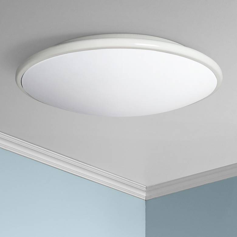 "Partia Flushmount 13"" Wide White LED Ceiling Light"