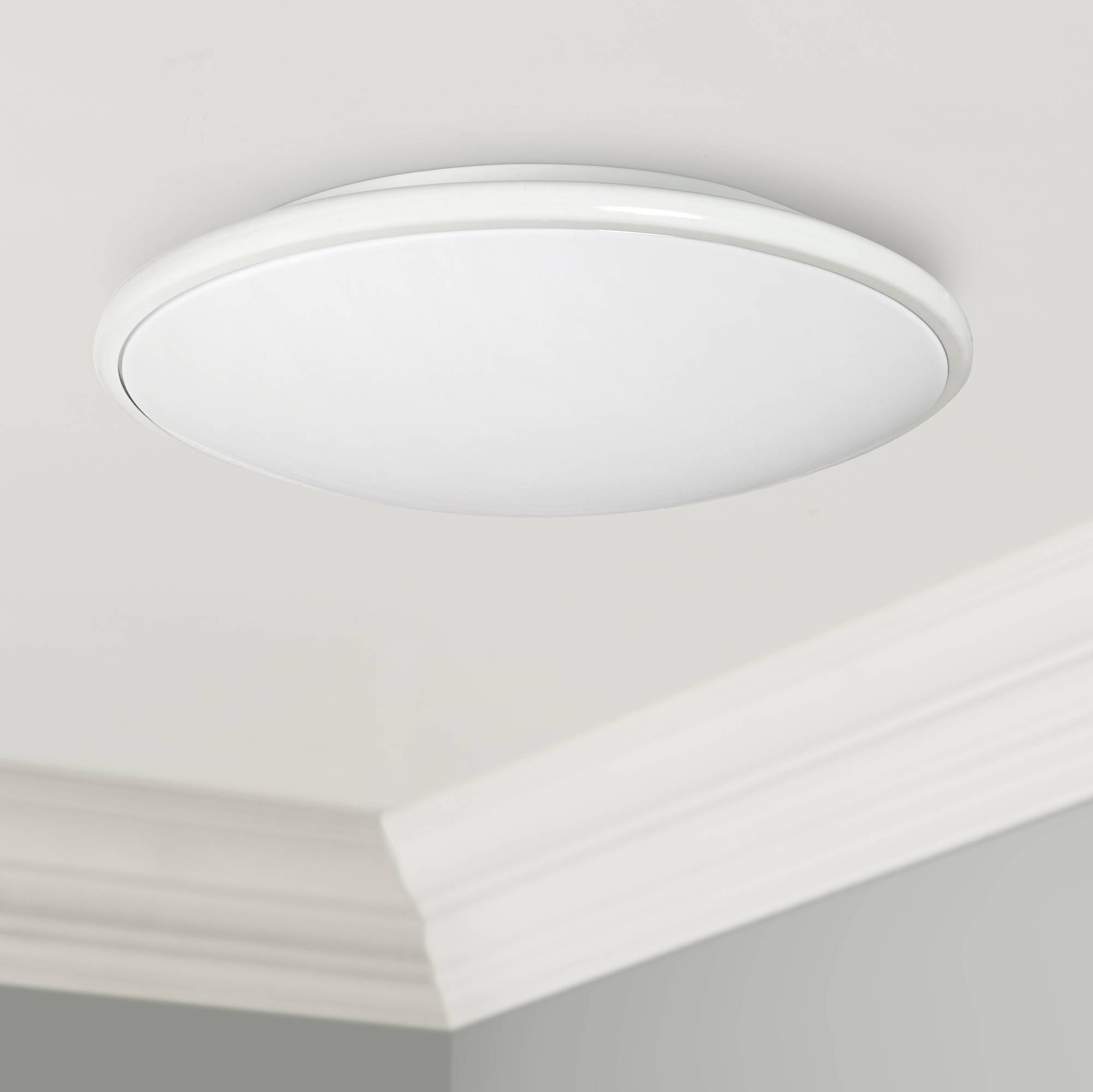 Partia flushmount 17 wide white led ceiling light