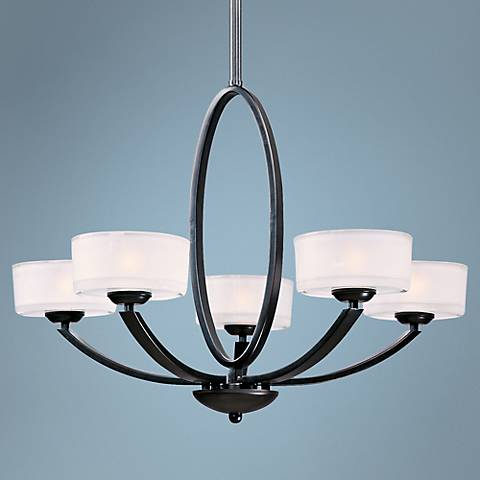 "Maxim Elle 30"" Wide 5-Light Oil-Rubbed Bronze Chandelier"