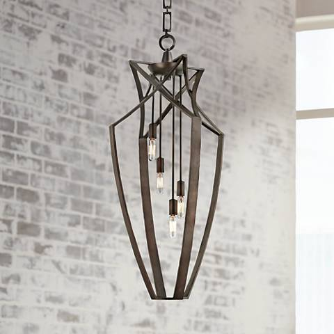 Savoy House Windsung Bronze 4-Light Foyer Pendant