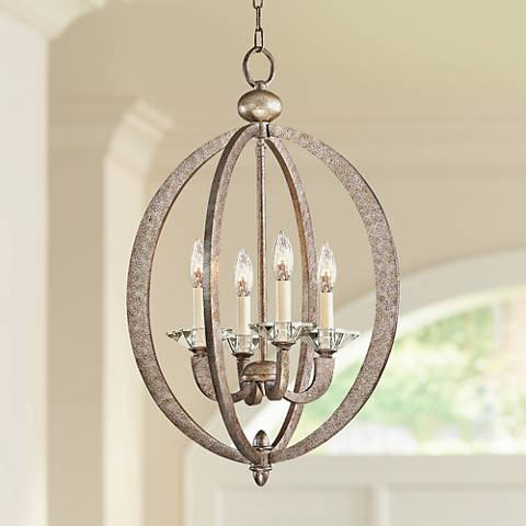 "Forum Gold 4-Light 16 3/4"" Wide Chandelier"