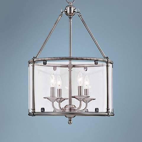 "Foxcroft Pewter 4-Light 16 3/4"" Wide Pendant Chandelier"