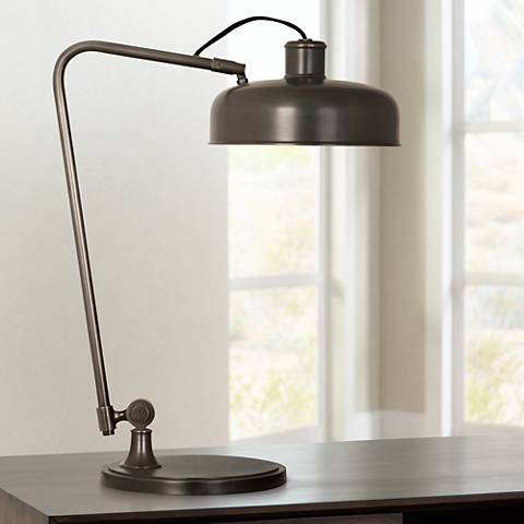 Robert Abbey Albert Deep Patina Bronze Desk Lamp