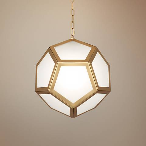 "Mary McDonald Pythagoras 16 3/4"" Wide Brass Pendant Light"