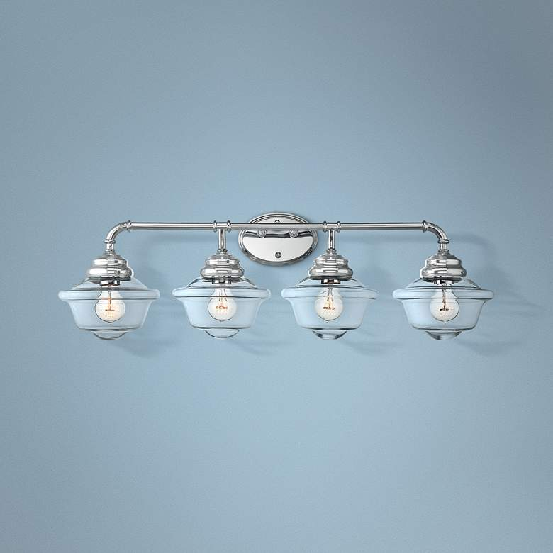 "Savoy House Fairfield 34 3/4""W 4-Light Chrome Bath"