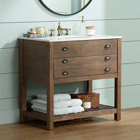 36 inch bathroom vanity with sink crosett cayhill cultured marble 36 quot wide sink vanity 24763