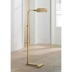 Fairfax Adjustable Height Antique Brass Pharmacy Floor Lamp