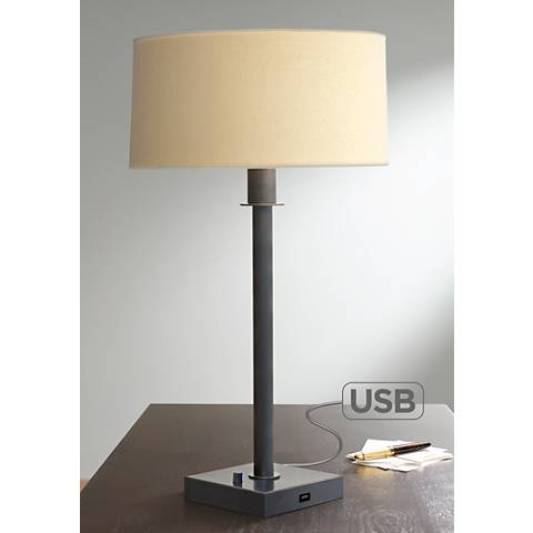 House of Troy Franklin Oil Rubbed Bronze USB Table Lamp