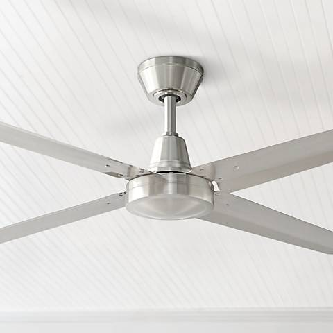 "54"" Fanimation Ascension Brushed Nickel Damp Ceiling Fan"