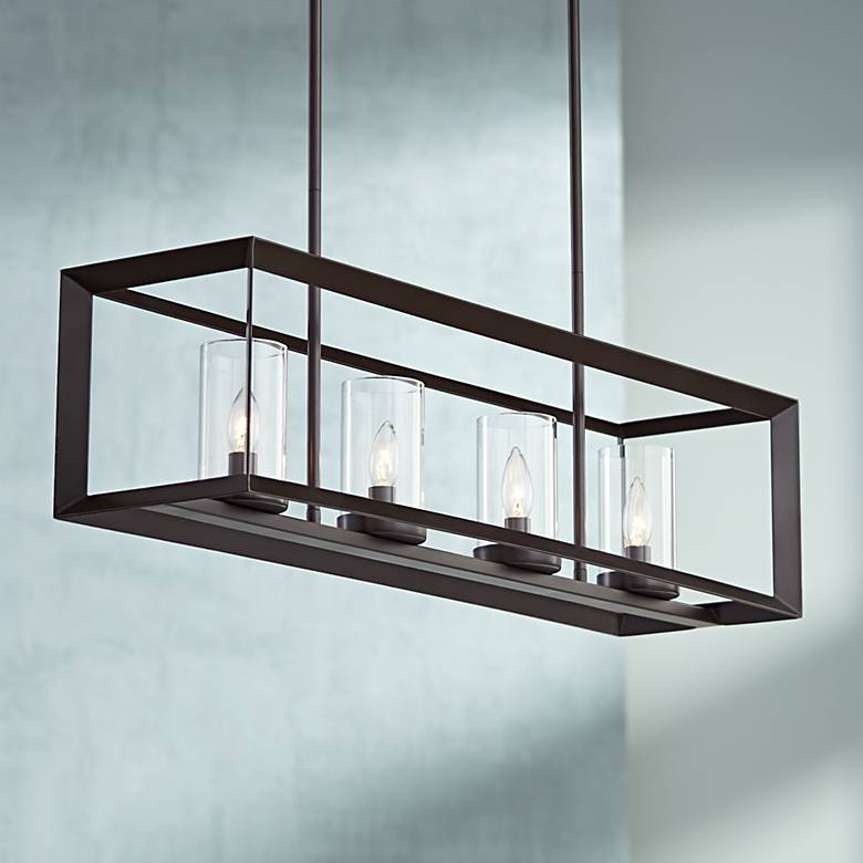"Cove Point 34 1/2"" Wide Open Frame Rectangular Chandelier"