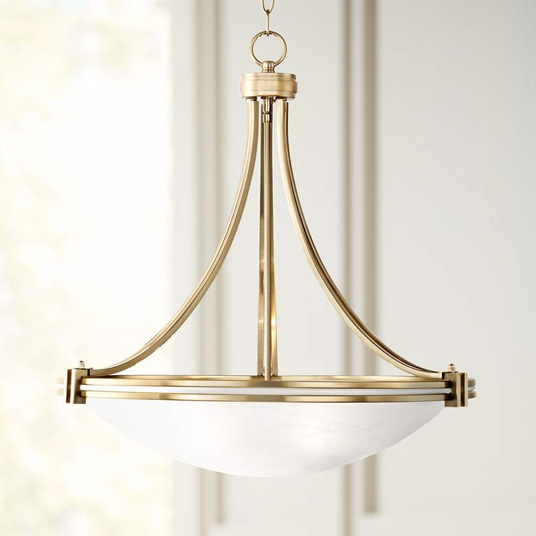 "Possini Euro Deco 21 1/2"" Wide Warm Brass"