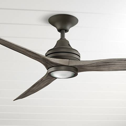 "60"" Spitfire Matte Greige - Weathered LED Ceiling Fan"