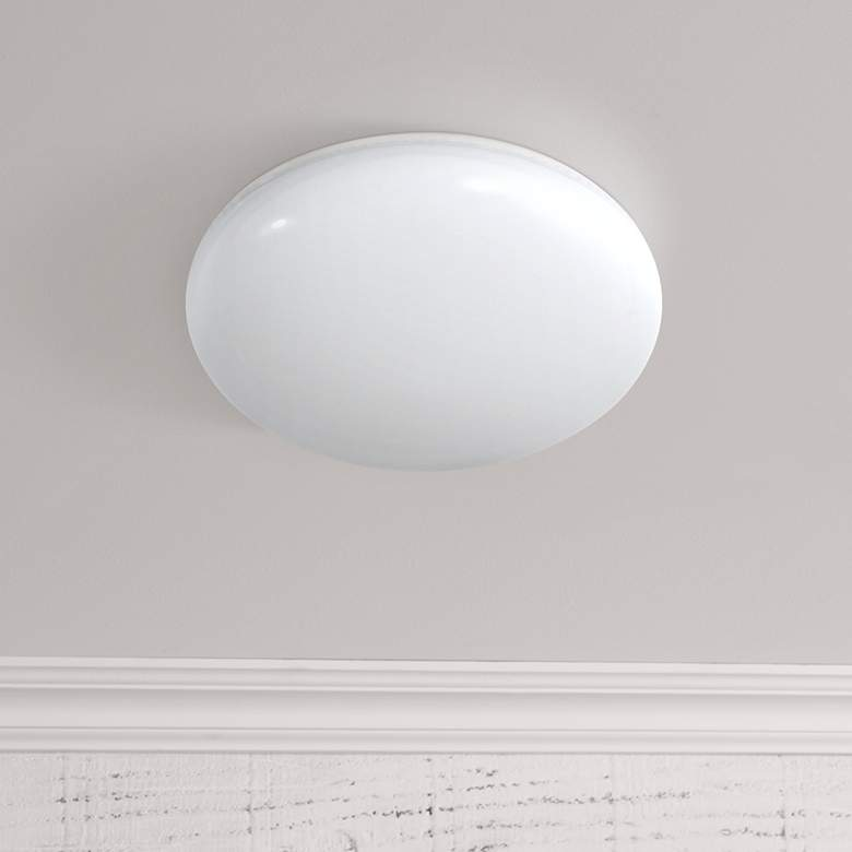 Motion Sensor Dusk-to-Dawn LED Flushmount Button Light