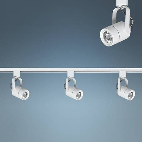 Riley White 3-Light LED Linear Track Kit