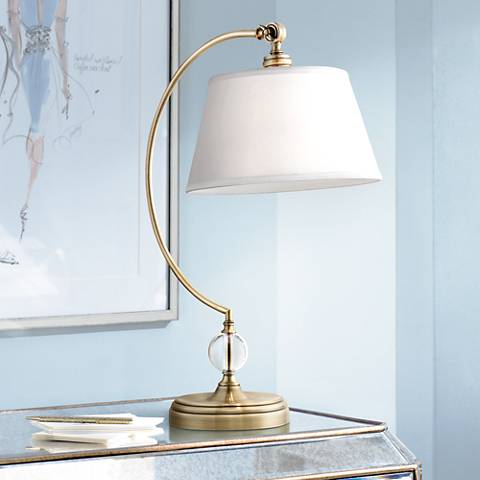 Lite Source Dickens Antique Brass Metal Desk Lamp