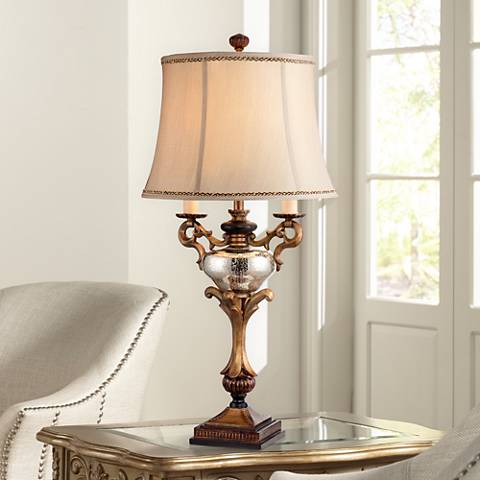 Winifred Faux Twin Candelabra Table Lamp