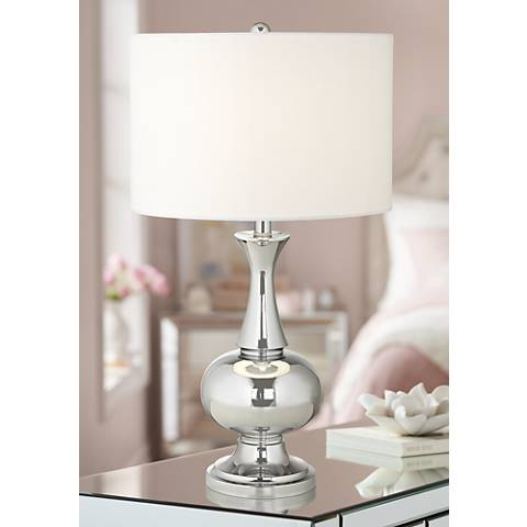 Corona Polished Chrome Table Lamp